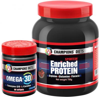 "Набор ""SPORTEIN® Enriched Protein 750 + OMEGA-3D"""