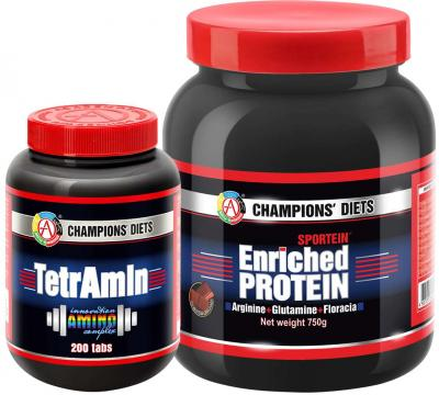 "Набор ""SPORTEIN® Enriched Protein 750 + TetrAmin®"""